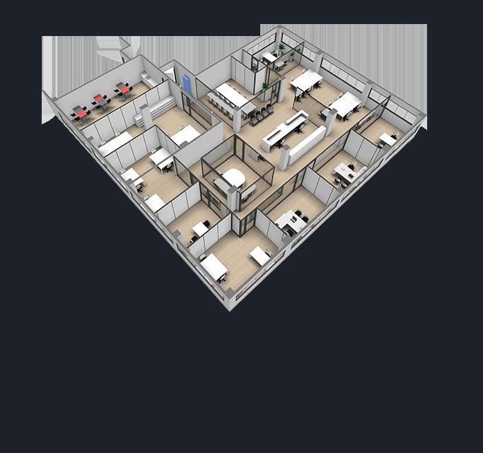 Un plan en 3D pour les solutions clés en main